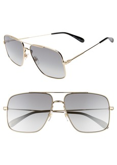 Givenchy 61mm Navigator Sunglasses