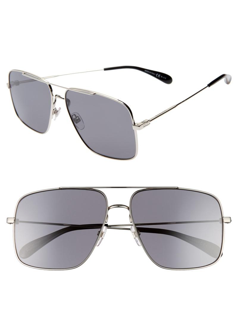 Givenchy 61mm Polarized Navigator Sunglasses