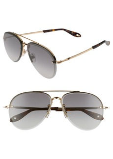 Givenchy 62mm Oversize Aviator Sunglasses