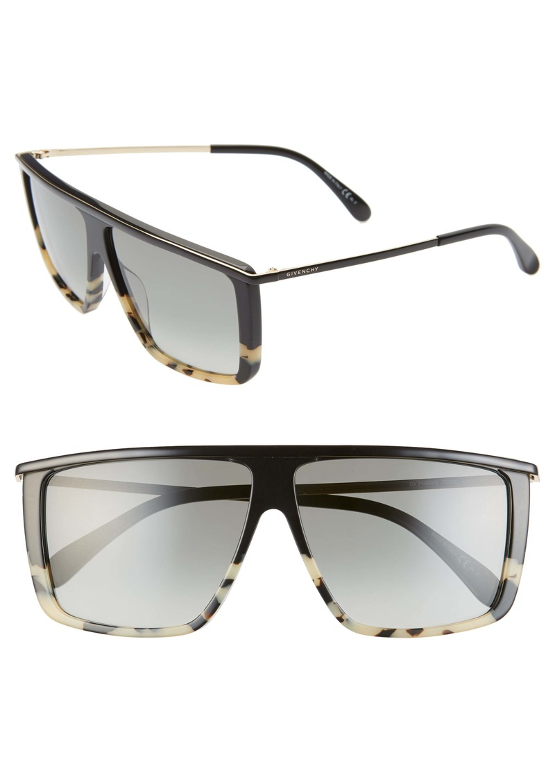 Givenchy 62mm Oversize Flat Top Sunglasses