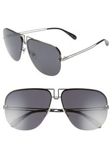 Givenchy 64mm Oversize Aviator Sunglasses