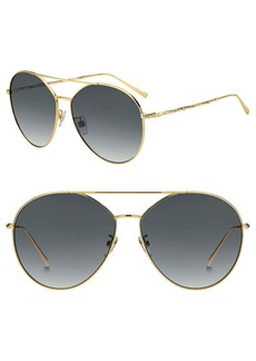 Givenchy 64mm Oversize Crystal Aviator Sunglasses