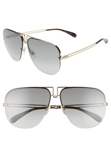 Givenchy 64mm Oversize Navigator Sunglasses