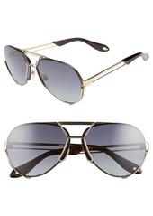 Givenchy 65mm Aviator Sunglasses