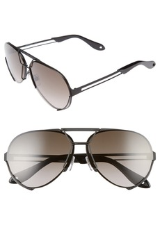 Givenchy 65mm Aviator Sunglasses