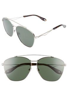 Givenchy 65mm Round Aviator Sunglasses