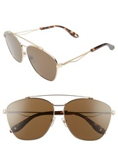 Givenchy 65mm Round Aviator Sunglasses