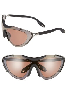 Givenchy 65mm Shield Sunglasses