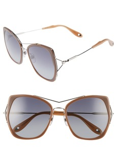 Givenchy 7031/S Airy 55mm Oversized Sunglasses