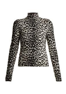Givenchy Animal-intarsia wool-blend top