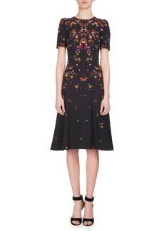 Givenchy Anna Pansy-Print Midi Dress