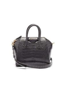 Givenchy Antigona mini crocodile-effect leather bag