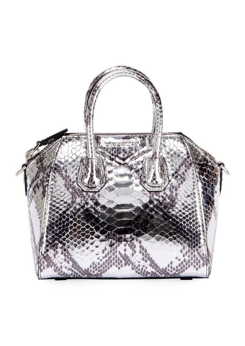 Givenchy Givenchy Antigona Mini Laminated Python Satchel Bag  ad7581f7d7a7c