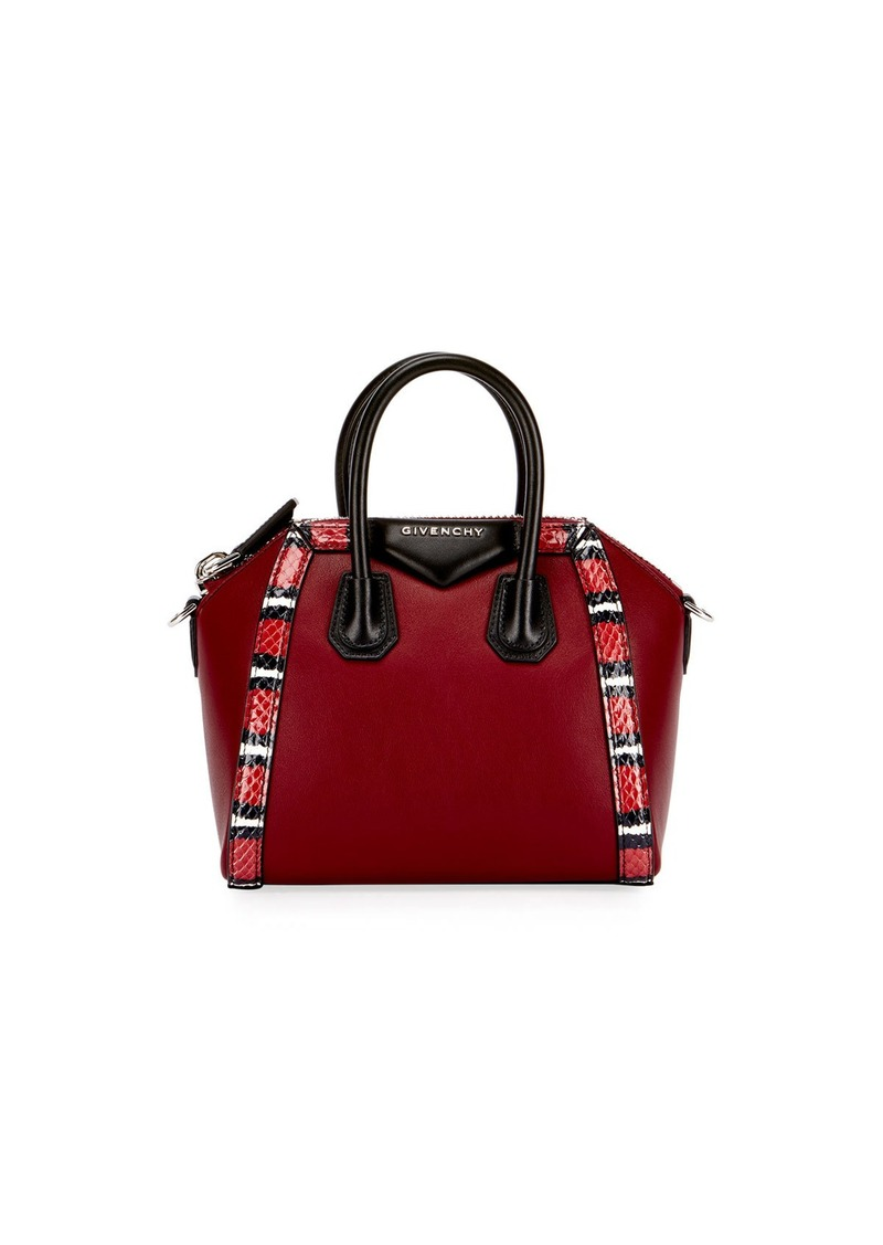 Givenchy Givenchy Antigona Mini Snake-Trim Satchel Bag  b61e537195188