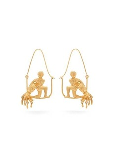 Givenchy Aquarius zodiac hoop earrings