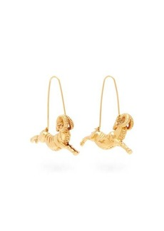 Givenchy Aries zodiac hoop earrings