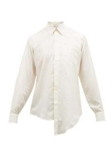 Givenchy Asymmetric-hem silk shirt