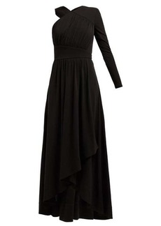 Givenchy Asymmetric ruched crepe-jersey gown