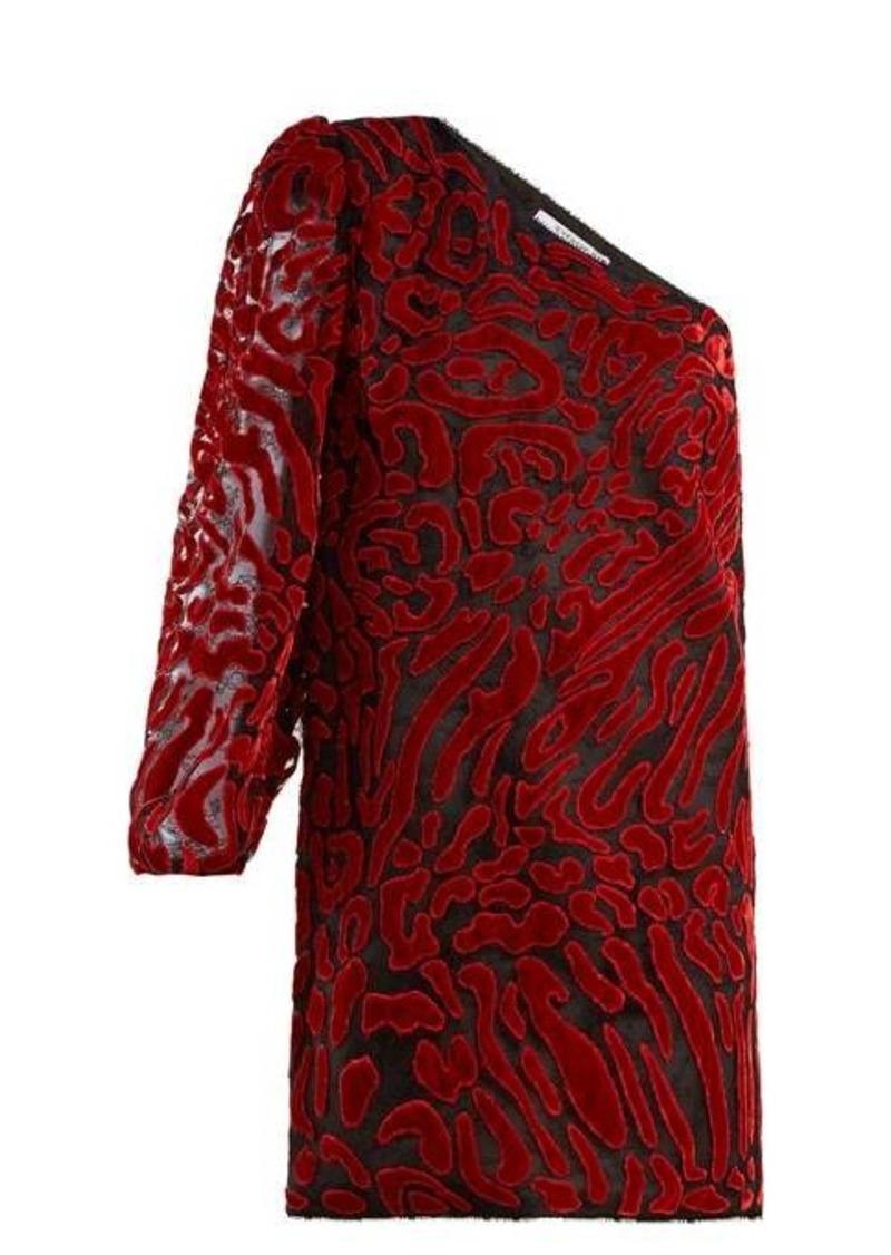 Givenchy Asymmetric velvet devoré mini dress