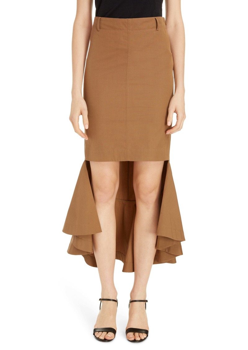 Givenchy Asymmetrical Tulip Hem Cotton Skirt