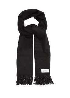 Givenchy Atelier label wool-blend scarf