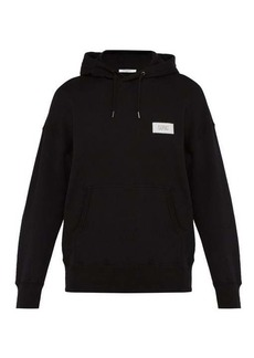 Givenchy Atelier-patch cotton hooded sweatshirt
