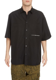 Givenchy Atlantis Loose Fit Short Sleeve Button-Up Shirt