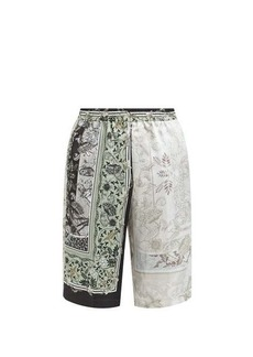 Givenchy Atlantis-print satin shorts