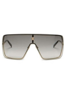 Givenchy Aviator flat-top mask sunglasses