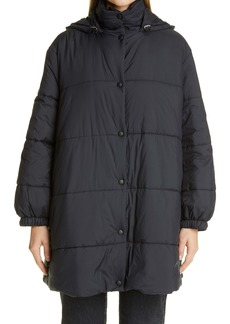 Givenchy Back Logo A-Line Puffer Coat