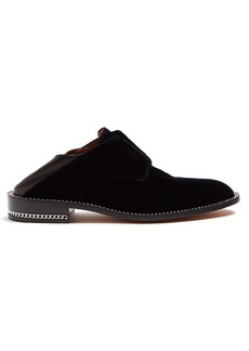 Givenchy Backless velvet loafers