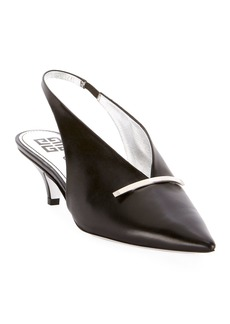 Givenchy Bar Slingback Leather Pumps