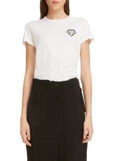 Givenchy Beaded Daisy Heart Logo Tee