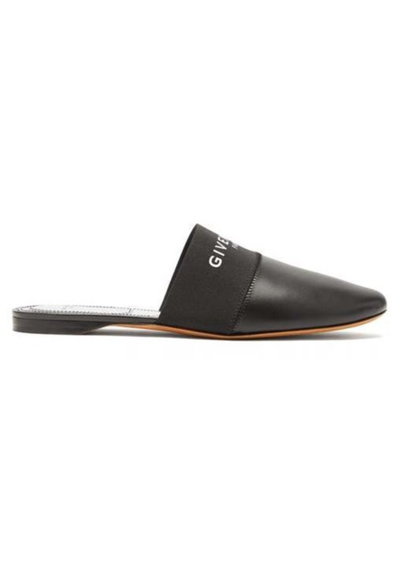 Givenchy Bedford logo-trim leather mules