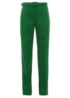 Givenchy Belted straight-leg twill trousers