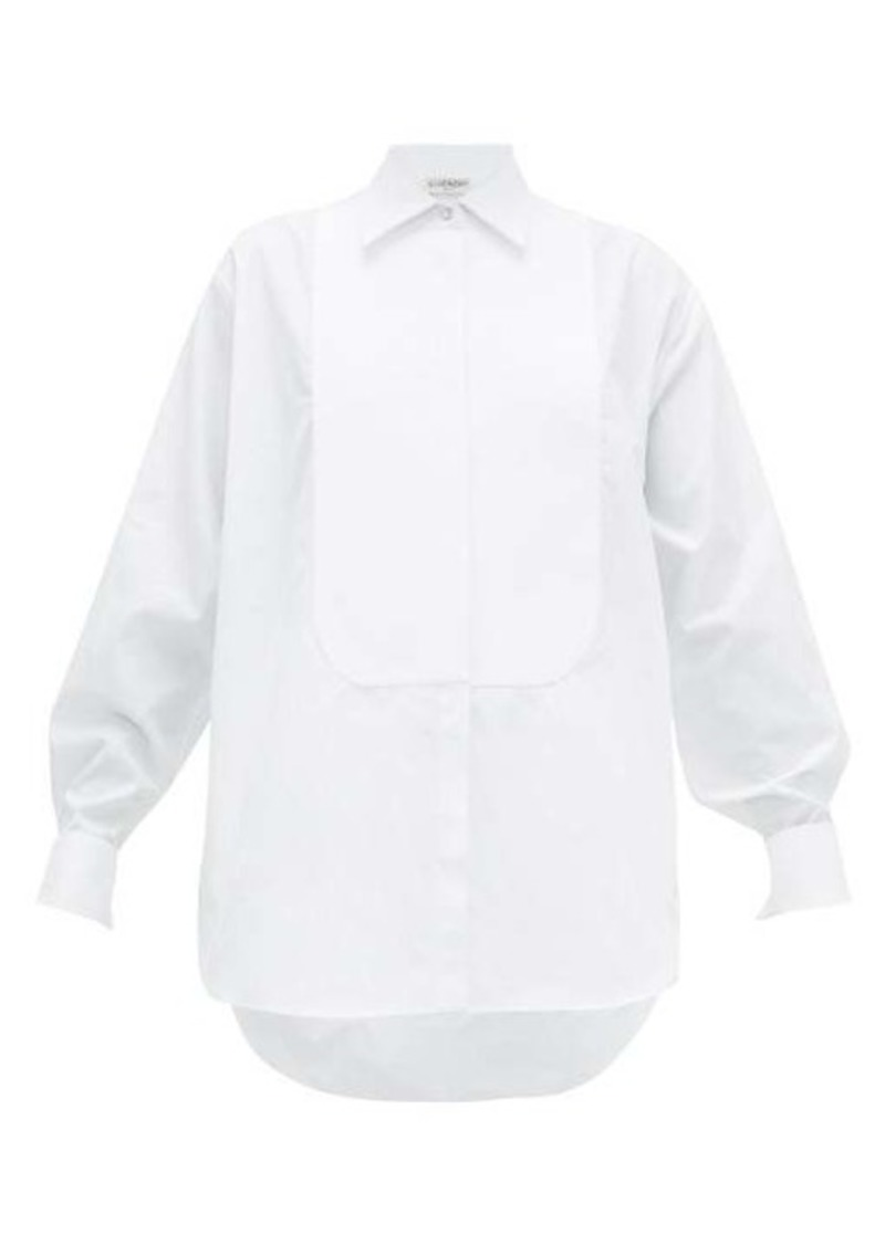 Givenchy Bib-front crystal-button cotton tuxedo shirt