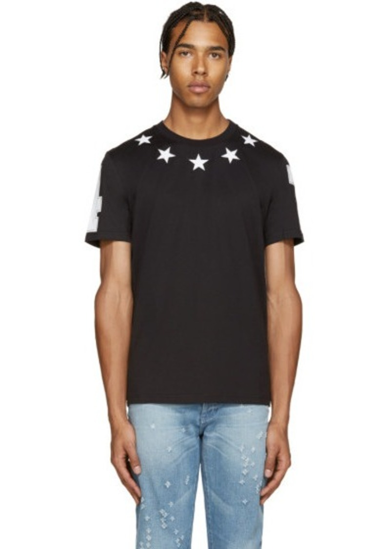 givenchy givenchy black stars t shirt t shirts shop it to me. Black Bedroom Furniture Sets. Home Design Ideas