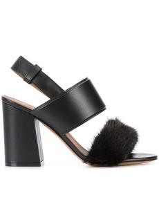 Givenchy block heel open toe sandals - Black