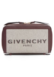 Givenchy Bond Canvas & Leather Travel Wallet