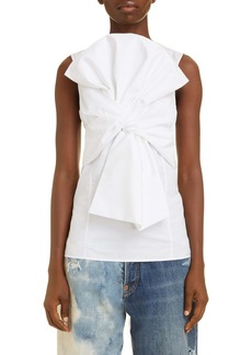 Givenchy Bow Front Poplin Top