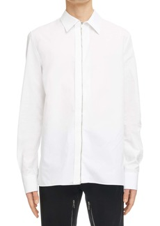 Givenchy Boxy Fit Poplin Zip Front Shirt