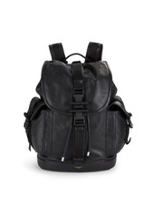 Givenchy Buckle Closure Leather Backpack
