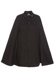 Givenchy Button-down denim cape