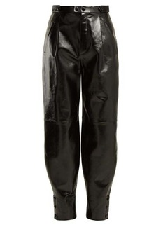 Givenchy Button-hem leather trousers