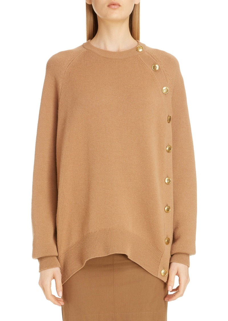 Givenchy Button Side Wool Sweater
