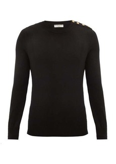 Givenchy Buttoned-shoulder cashmere sweater