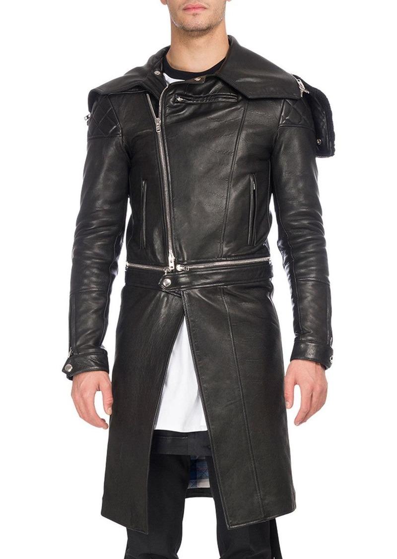 ba490ee8d54 Givenchy Givenchy Calf Leather Long Moto Coat
