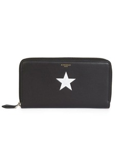 Givenchy Calf Leather Long-Zip Wallet