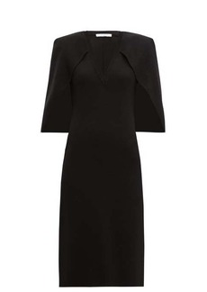 Givenchy Cape-back crepe midi dress