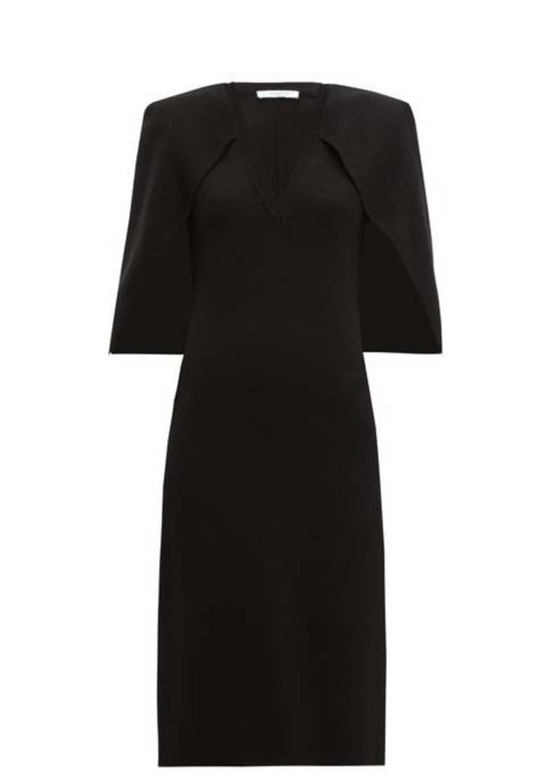 Givenchy Cape-back crepe midi dress